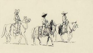 Edward Borein, Untitled (Mexican Cowboys)