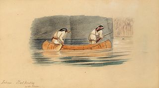 William George Richardson Hind, Indians - Seal Hunting on the Moisie
