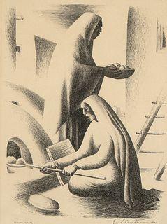 Emil Bisttram, Indian Bread, 1936
