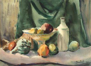 B. J. O. Nordfeldt, Untitled (Still Life), 1939
