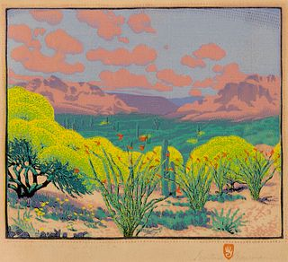 Gustave Baumann, Palo Verde and Ocotea, 1928