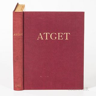 Atget, Eugene (1857-1927) Atget Photographe de Paris. New York: E. Weyhe, [1930]. First edition, quarto, in publisher's maroon boards w