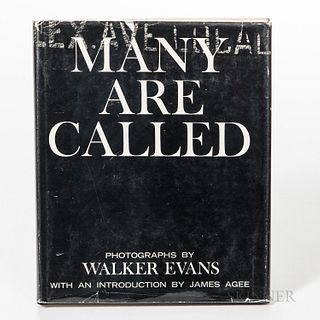 Evans, Walker (1903-1975) Many Are Called. Boston: Houghton Mifflin Company, 1966. Octavo, stated first printing in publisher's black c