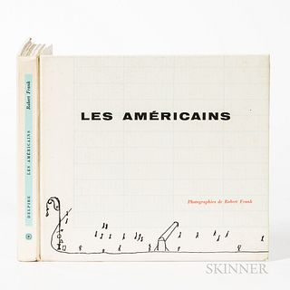Frank, Robert (1924-1919) Les Americains. Paris: Robert Delpire, 1958. First edition, small oblong quarto, laminated pictorial boards,