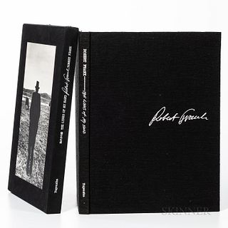 Frank, Robert (1924-2019) The Lines of my Hand. Tokyo: Yugensha, 1972. Folio, publisher's black cloth with white stamping, including se