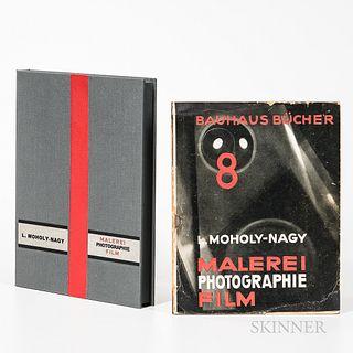 Moholy-Nagy, Laszlo (1895-1946) Malerei Photographie Film. Munchen: A. Langen, 1925. First edition, printed pictorial wrapper illustrat
