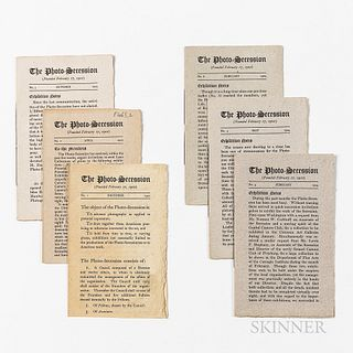 Stieglitz, Alfred (1864-1946) The Photo-Secession. Six Issues. New York, 1902-05. Octavo, letterpress printed on hand-made paper, issue