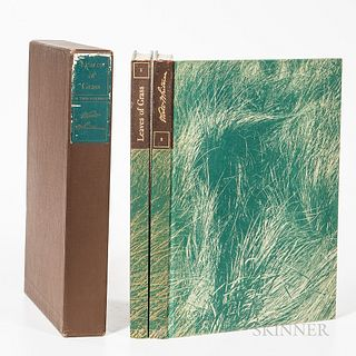 Whitman, Walt (1819-1892) and Edward Weston (1886-1958) Leaves of Grass. New York: The Limited Editions Club, 1942. Two volumes, publis