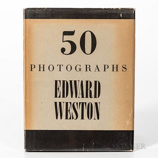 Weston, Edward (1886-1958) 50 Photographs. New York: Duell Sloan & Pearce, 1947. First edition, quarto in publisher's cloth-backed boar