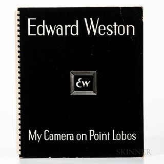 Weston, Edward (1886-1958) My Camera on Point Lobos. Boston: Yosemite National Park and Houghton Mifflin, 1950. First edition, spiral-b