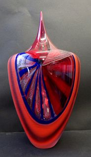 Afro Celotto Italian Blown Murano Glass Vase