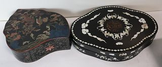A Chinese Lacquered And Mother Of Pearl Inlaid Box