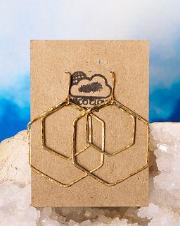 Disco Cloud Designs, Hexagon Design Earrings & Meditation Spinner Ring