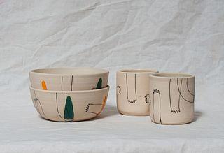 Echeri Ceramics, Working Hands Bowls & Tumblers