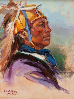 Guadalupe Apodaca (American, b. 1941) Apache War Bonnett