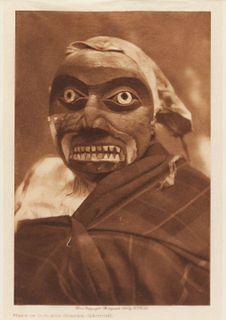 Edward Curtis (American, 1868-1952) Mask of Octopus Hunter- Qagyuhl, 1914