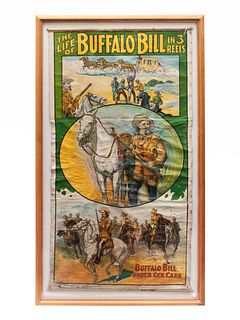 The Life of Buffalo Bill in 3 Reels Poster 80 x 40 inches