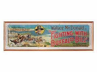 Wallace MacDonald in Fighting with Buffalo Bill Vintage Movie Poster 37 x 119 inches