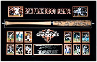 San Francisco Giants 2012 World Series Champions Team Signed Bat