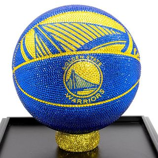 NBA Golden State Warriors Basketball Made with Swarovski Crystals
