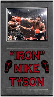 Autographed photograph By Mike Tyson with display frame
