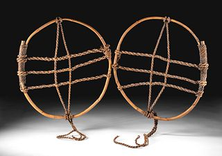 Early 20th C. Japanese Bamboo Snowshoes (pr)