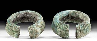 Ancient Vietnamese Dong Son Bronze Bracelets (pr)