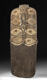 Exhibited 20th C. Papua New Guinea Ramu Wood Shield
