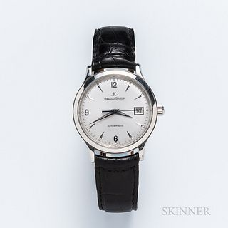 "Jaeger LeCoultre ""Master Control"" Reference 140.8.89 Wristwatch, no. 8184, stainless steel case with silvered dial, blued center second"