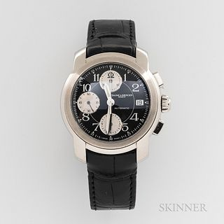 Baume & Mercier Capland Reference MVO45216 Wristwatch, no. 3714788 stainless steel case with black dial, subsidiary dials, date at 3, s