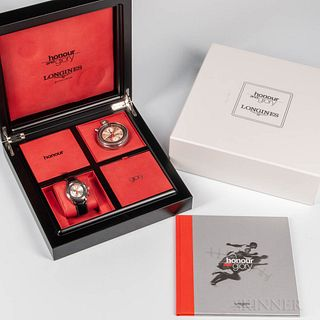 "Limited Edition Longines ""Honour and Glory"" Full Kit Watch Set, purchase date June 10, 2000, no. 12303294, one of the original 600 stai"