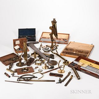 Collection of Scientific Instruments, Parts, and Accessories.