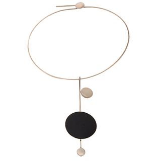 A Betty Cooke Mid Century Design Onyx Necklace