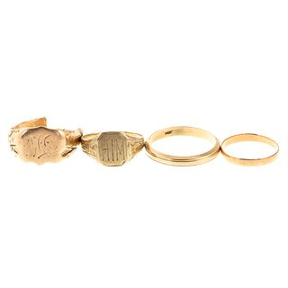 A Collection of Rings in Various Golds