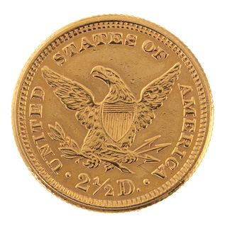 A 1907 Liberty Head $2.50 Dollar Gold Coin Brooch