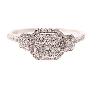 A Pave Diamond Ring in 14K
