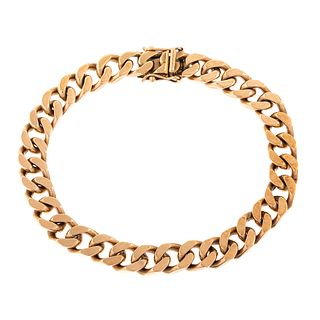 A Gent's Heavy Cuban Link Bracelet in Gold