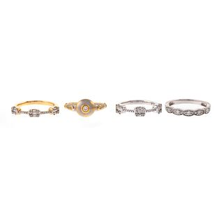 A Collection of Diamond Rings in 18K & 14K