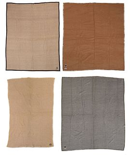 Four Eulan Bayer Camel Hair and Alpaca Blankets
