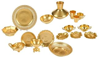 58 Assorted Healy Gold Chryso Ceramic Objects