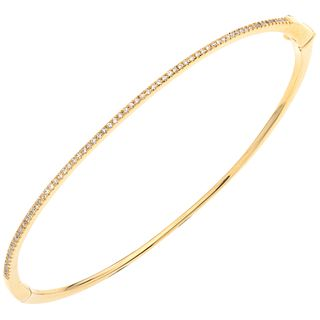 DIAMONDS WRISTBAND. 14K YELLOW GOLD