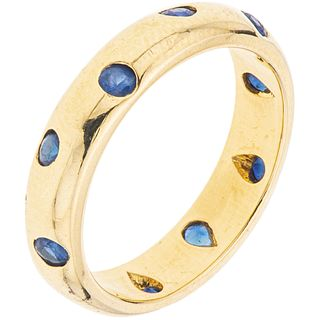 SAPPHIRES RING. 18K YELLOW GOLD