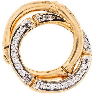 DIAMONDS PENDANT. 18K YELLOW GOLD