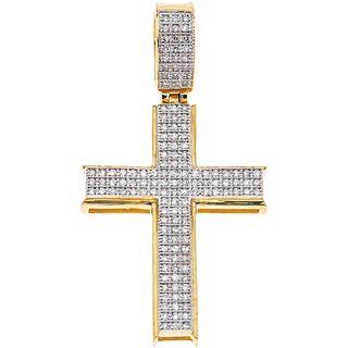 DIAMONDS CROSS. 10K YELLOW GOLD