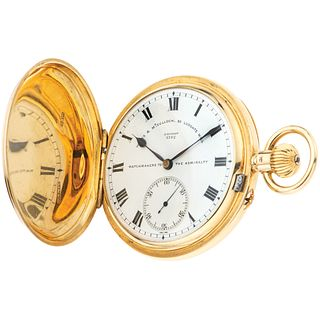 WALES & MCCULLOCH. 20 LUDGATE HILL, LONDON. N° 3762 POCKET WATCH. 18K YELLOW GOLD