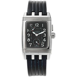 JAEGER-LECOULTRE REVERSO GRAND SPORT DUO FACE NIGHT AND DAY. STEEL REF. 295.8.51