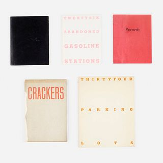 Ed Ruscha, collection of four books
