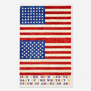 Jasper Johns, Two Flags (Whitney Museum of American Art 50th Anniversary)