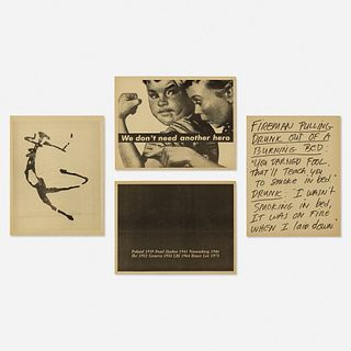 Various, four works from Inserts by Group Material