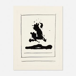 Robert Motherwell, Untitled from the New York International portfolio